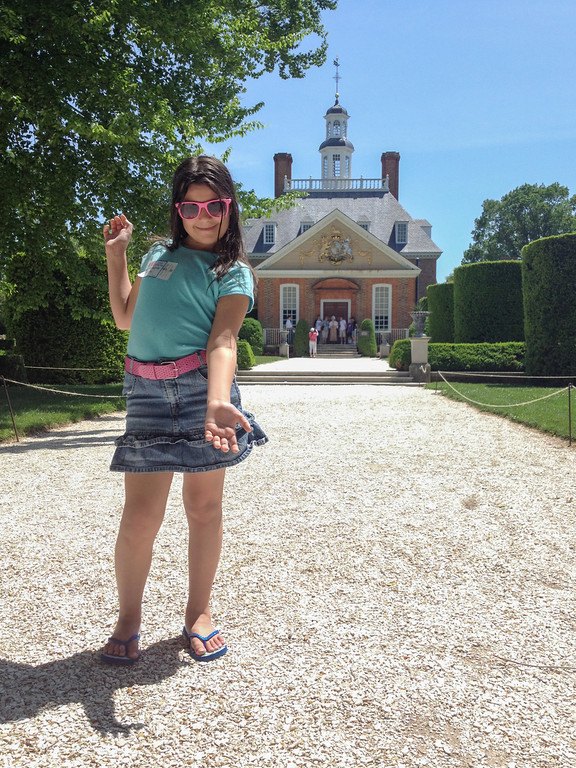 Backyard of The Governer's Palace at Colonial Williamsburg