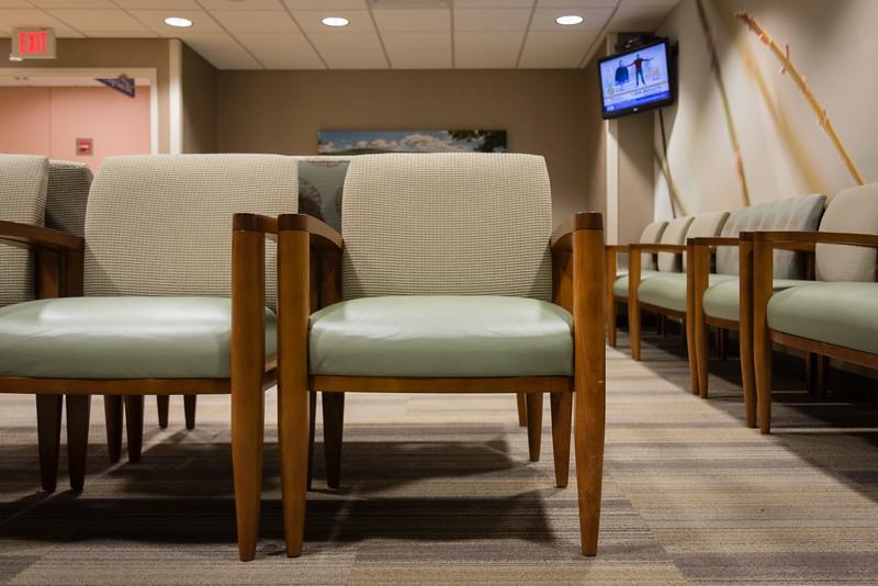 Waiting room at St. Mary's Hospital
