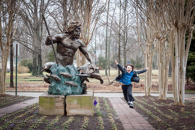 Ian Kendzie Jumping For Joy During a Break in the Front Yard of the Glen Allen Cultural Arts Center Between Sessions on Friday