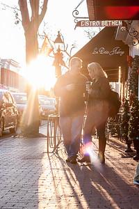 Backlit Couple