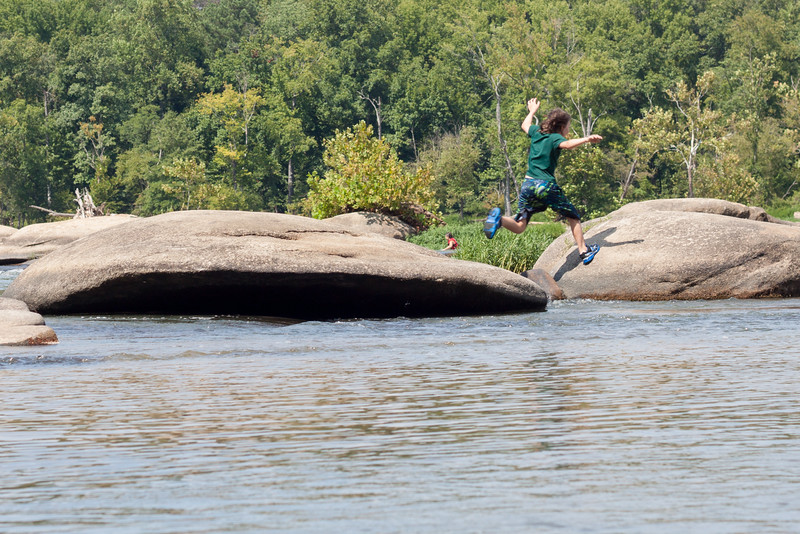 Jumping From Rock to Rock at Pony Pasture