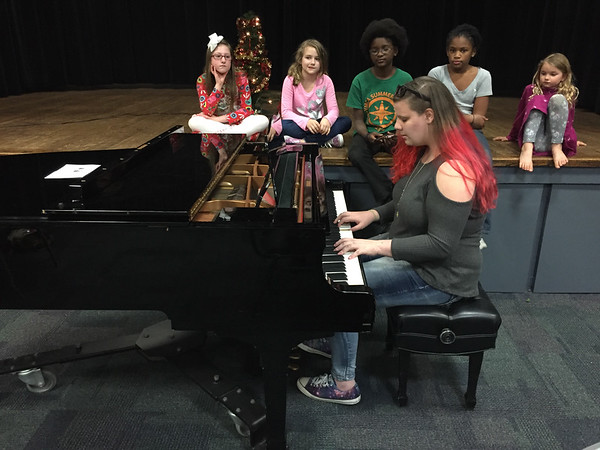 Playing Piano at The Drama Club Christmas Party