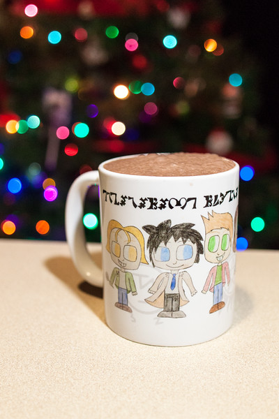 Mint Chocolate Coconut Milk in a Supernatural Mug