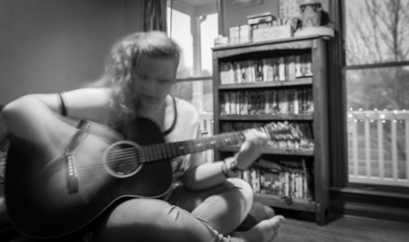 Rhiannon Playing Guitar