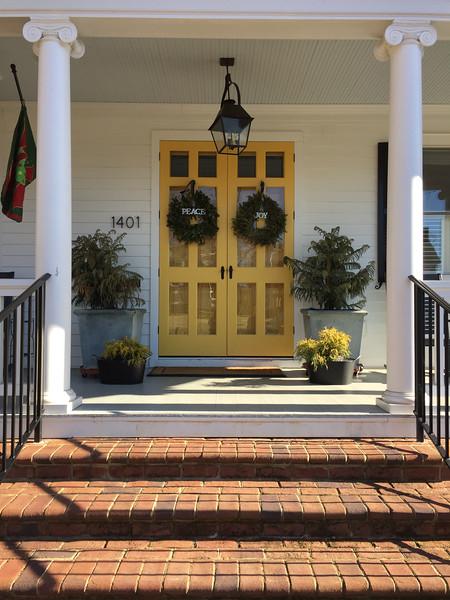 Peaceful Joyful Yellow Doors on Washington Avenue