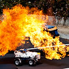"May 5, Menlo Park, CA: Most of the time we build things at work.  But sometimes we drive cars around and light them on fire ( <a href=""http://www.danaseye.com/gallery/8119906_hw8Mq"">http://www.danaseye.com/gallery/8119906_hw8Mq</a>).  I work at such a fun place.  I actually really love being at work.  I am never in a meeting that isn't relevant.  Decisions come out of almost every interaction.  It seems like a highly functional place to have a job.  <br /> <br /> I was also looking at my last few posts, and noticing, for the first time, that they are all monochromatic.  Someone yesterday sent me a message saying how much emotion is capture in what I shoot.  Last week someone told me something similar.  I wonder how much I communicate just via images alone.  And whether or not it impacts my ability to put my own emotions aside long enough to make sure they don't seep out, for instance when I am shooting a happy occasion but in a very foul mood.  Or maybe I should try to focus on working through my foul moods..."