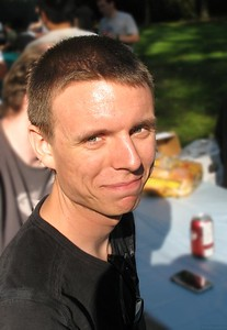 In Memory of Erik Torstensson  No picture today. Instead I present a picture of my friend and co-worker Erik from a company picnic last year.  I learned today that Erik passed away over the weekend. It comes as a shock.   Erik was intelligent, thoughtful, cheerful, unbelievably nice (nobody I know has ever heard him swear), and unbeatable at RTS games. He made a large positive contribution to the lives of the people he worked with and will be sorely missed.