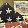 Nov. 11, 2012 - During the Veteran's Day service at Maxwell Street Presbyterian, this flag that was flown over the U.S. base at Kandahar, Afghanistan, and subsequently presented to the church was displayed. (331/366)