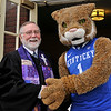 "March 4, 2012 - There were other images from today's visit to church by the UK Cheerleaders and Scratch for our annual chili lunch to watch the last UK game of the year. But I just loved this one of Woody, including the ""meeting of religions"" subtext. (80/366)"