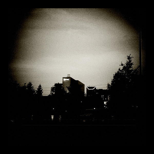 April 30, 2012 - Working a late editing shift, I used the Holga setting on my phone to capture an image of an approaching storm.