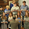 Oct. 14, 2012 - The Youth Choir singing at 10:30 worship today. (303/366)
