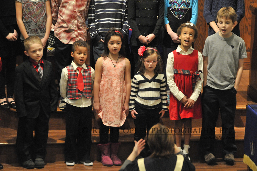 Dec. 16, 2012 - There were some other aspects of the service the Sunday after the school shootings in Newtown I thought I'd use as the photo of the day, and the final one of this collection. But this was the picture I really ended up liking, of our church's children raising their voices in song. (366/366)
