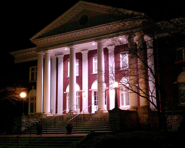 Feb. 17, 2012 - This is my 366 Project's first cameraphone photo. Friday was not conducive to working on a photo and I had no photo jobs for the paper. But I said EVERY day. So, last night to go review the Philharmonic, I parked at Maxwell Presbyterian - really, out of necessity, as it was a busy night on campus. Before going home to write the review, I pulled out my AT&T HTC Inspire, which I bought in part because of the 8MP camera, and took a few shots of the front of the church. Pretty nice for a cameraphone, though I intend to come back later this year and work on a nighttime exterior of the church with a proper DSLR and a tripod. (64/366)