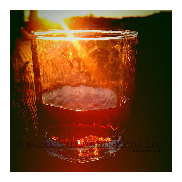 Oct. 21, 2012 -  Not too many weekend nights left to enjoy a little Bourbon on the back deck. (310/366)