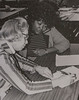 Hellen Gourgh with student in Skills Center 1974