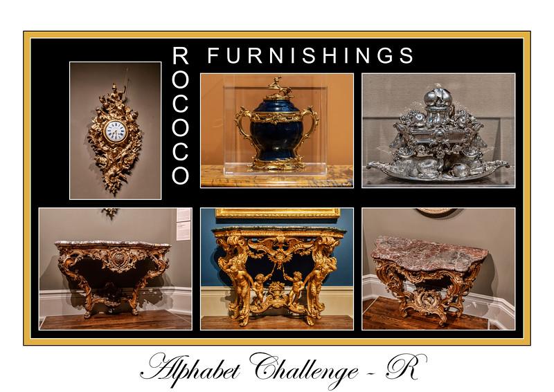 Alphabet Challenge:  R – Rococo furnishings