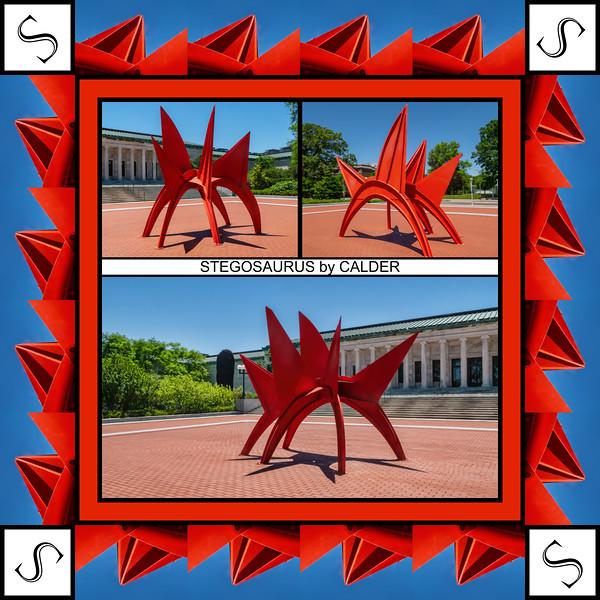 Alphabet Challenge:  S – Stegosaurus by Calder