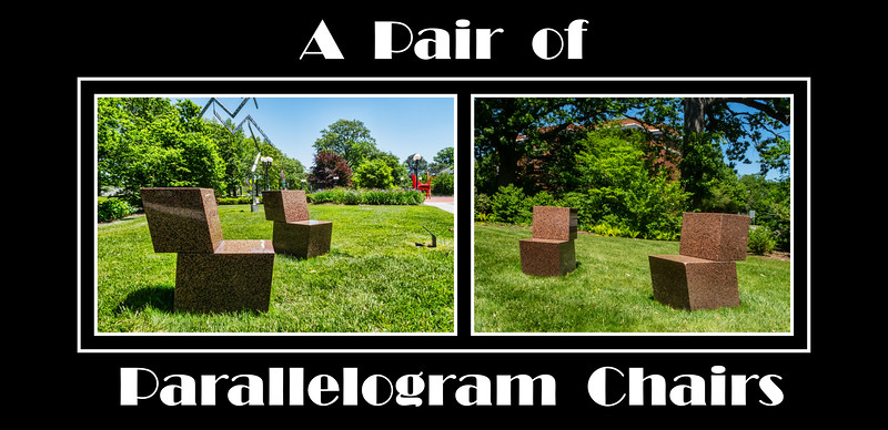 Alphabet Challenge:  P – Pair of Parallelogram Chairs