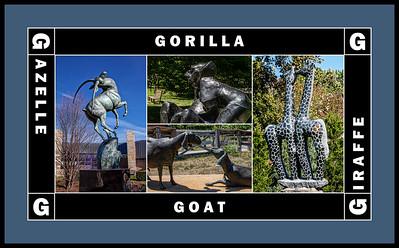 Alphabet Challenge:  G - Great Animals (sculptures) (sc 2018-7-15)