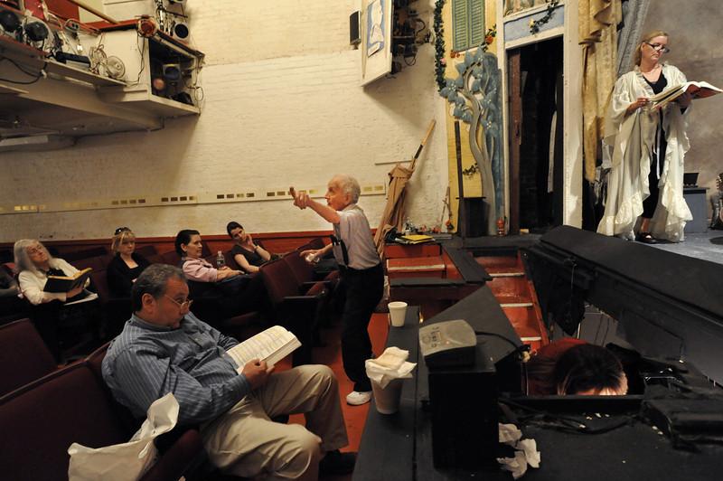 Amato Opera Theatre, New York City.<br /> © Laura Razzano<br /> <br /> Maestro Tony Amato during rehearsal.