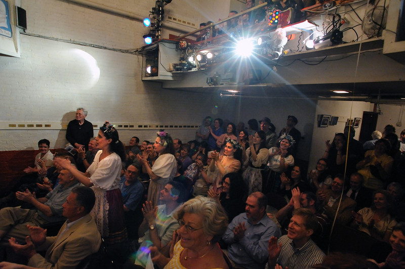 The audience of the Amato Opera Theatre after its last performance of The Marriage of Figaro on May 31, 2009.<br /> Amato Opera Theatre, New York City.<br /> © Laura Razzano
