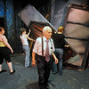 Amato Opera Theatre, New York City.<br /> © Laura Razzano<br /> <br /> Maestro Anthony Amato directs the strike of the sets of the Boheme to change for the Marriage of Figaro, last production after 61 years.