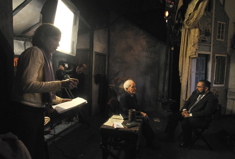 Amato Opera Theatre, New York City.<br /> © Laura Razzano<br /> <br /> Maestro Anthony Amato interviewed by Ray Suarez of the News Hour with Jim Leher, Channel PBS 13, New York Public TV Media.