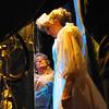 Amato Opera Theatre, New York City.<br /> © Laura Razzano<br /> <br /> (R-L) Rochelle Mancini is the Countess and  Alice Heatherington is Susanna, backstage at the Amato Opera Theatre.