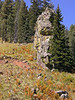 Rock spire along Black River (Sept 2008)