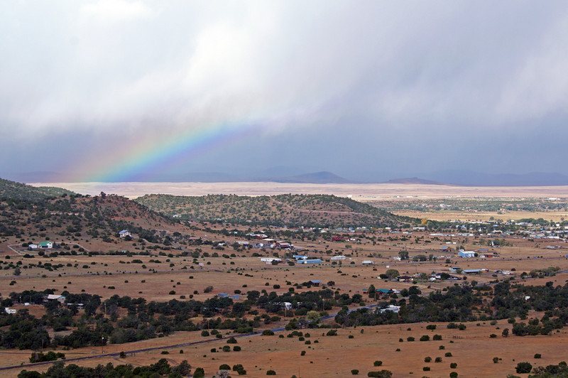 Rainbow above Eagar AZ, from the SE (Oct 2013)