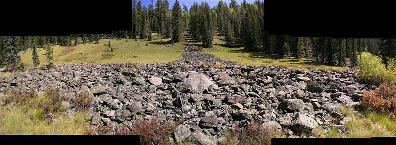 Rock slide, West Fork Black River (Sep 2008)