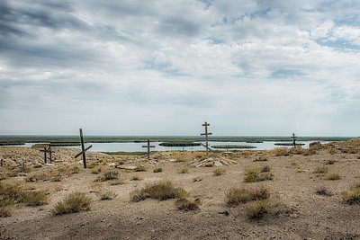 Cemetery of soviet gulag