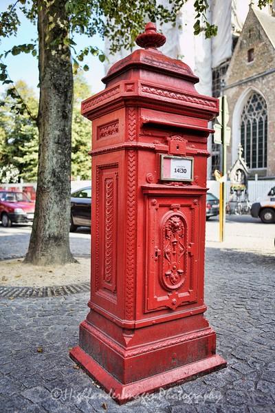 Post Box in Brugge, Belgium