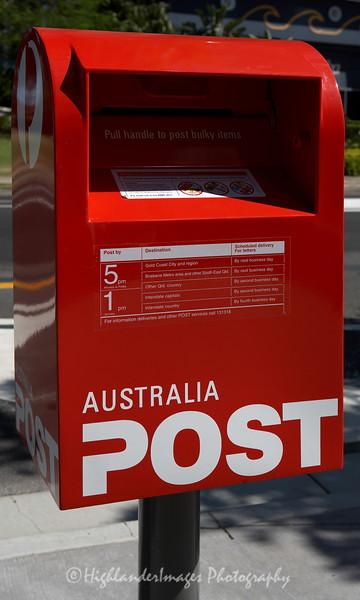 Australian post box, Gold Coast, Australia
