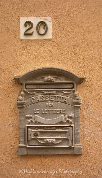 Post box, Massa Marittima, Tuscany, Italy