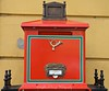 Post Box in Budapest, Hungary