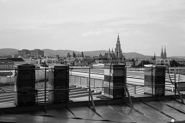 Am Dach des Naturhistorischen Museums