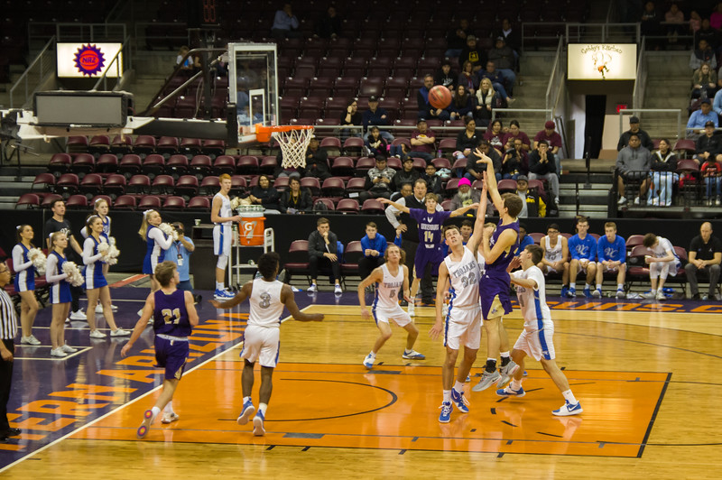 Wickenburg vs Valley Christian, 3A state championship quarterfinals (Feb 2019)