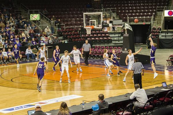 Wickenburg vs Valley Christian, 3A state championship quarterfinals (Feb 2019)