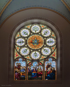 Stained Glass window inside St. Mary's Church, Richardton ND