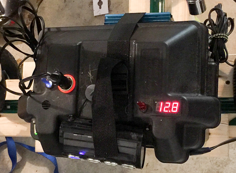 Custom 1.2kWh battery with integrated voltage read-out