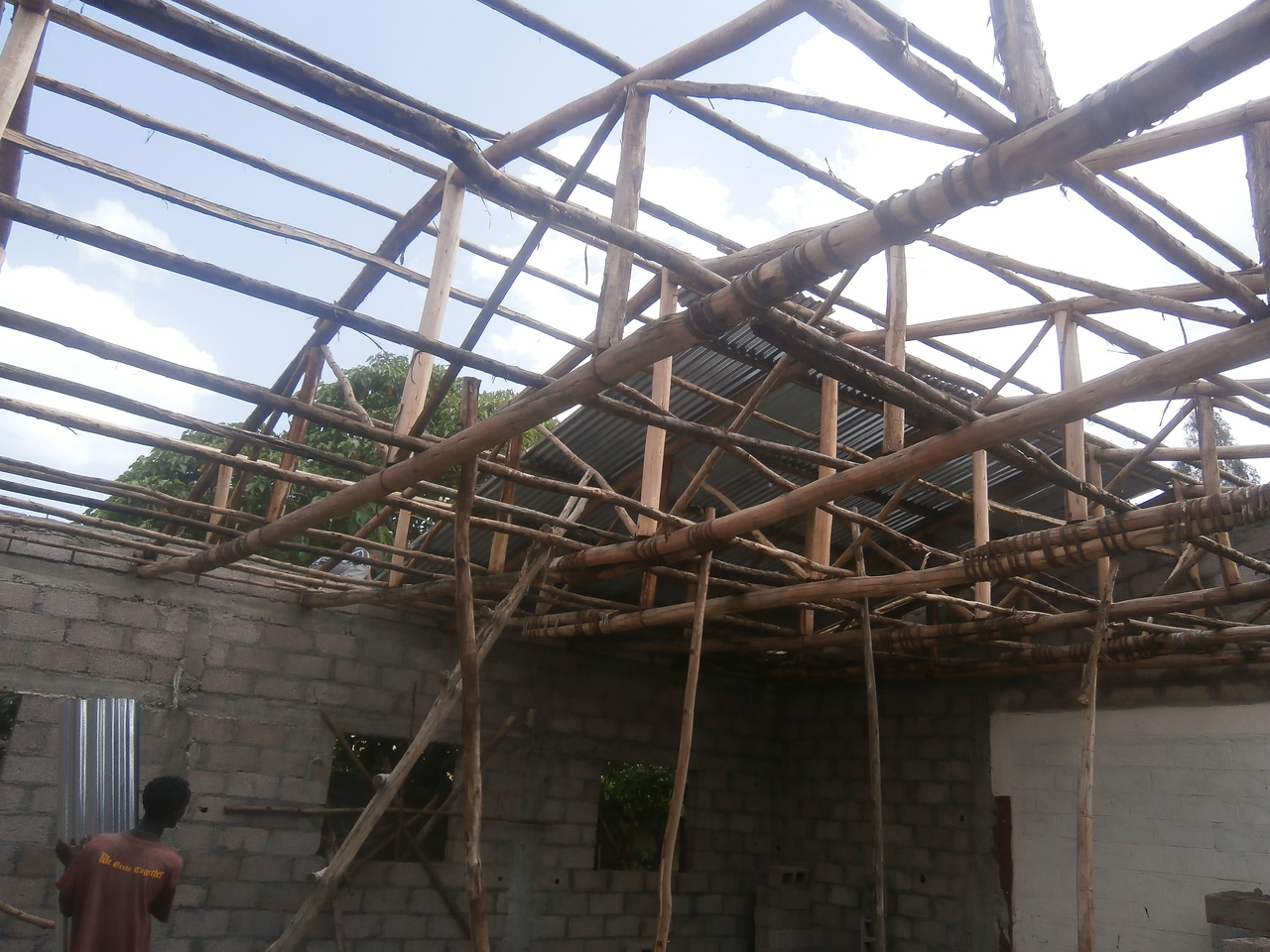 18th June - Erecting the iron roof