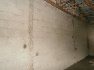 25th June - First Coat of plaster