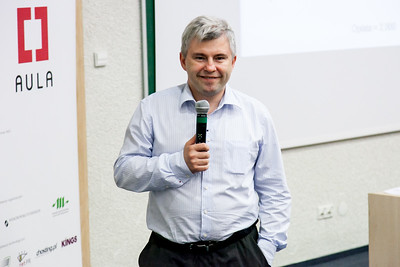 Andrzej smiles