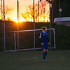 Romantic sunset at the field