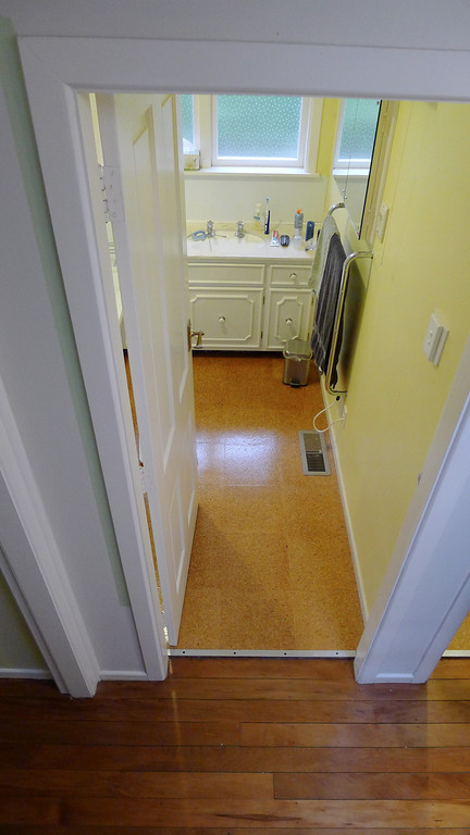 Bathroom doorway before