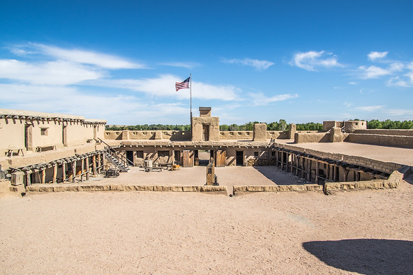 Looking at front Watch Tower from second story, Bent's Old Fort, CO (Sep 2018)