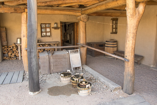 Clothes washing area near kitchen, Bent's Old Fort, CO (Sep 2018)