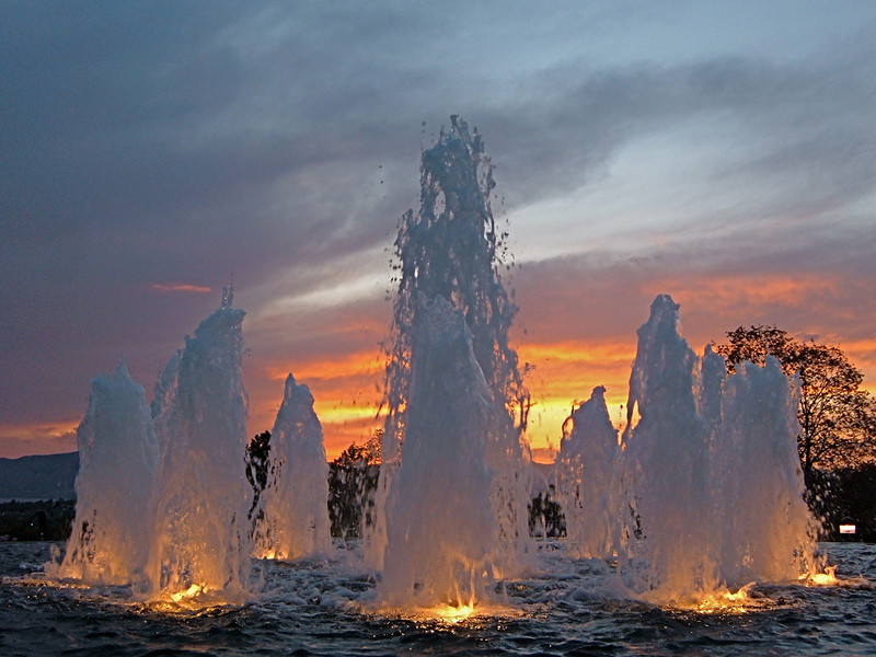 Sunset Fountain