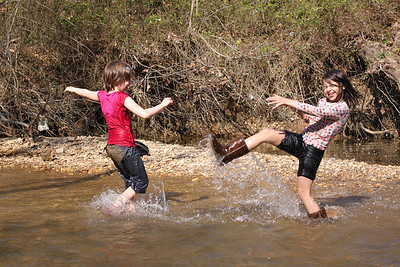 Splashing in the Creek